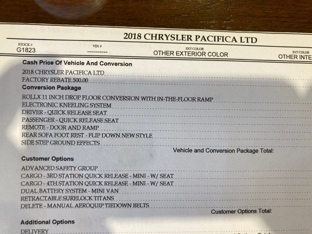 2018 Chrysler Pacifica Limited ROLLX Wheelchair Conversion in Boerne, Texas 78006