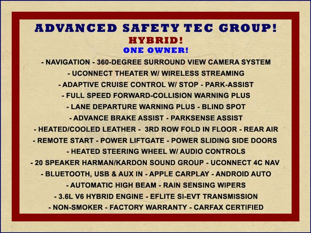 2018 Chrysler Pacifica Hybrid Limited FWD - ADVANCED SAFETY TEC PKG! Mooresville , NC 1