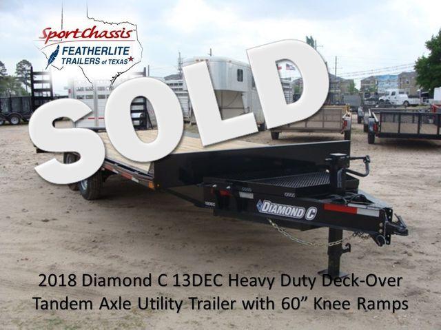 2018 Diamond C 13DEC 20' - Heavy Duty Deck-Over Trailer CONROE, TX 0