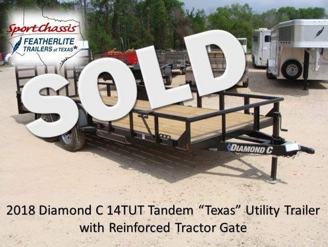 "2018 Diamond C 14TUT - 18' ""Texas"" Utility Trailer CONROE, TX 0"