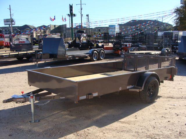 2018 Diamond C 26SSA - 12' Solid-Side Single Axle Utility Trailer CONROE, TX 8