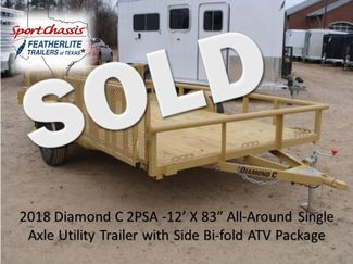 2018 Diamond C 2PSA - 12' ATV All-Around Single Axle Utility Trailer CONROE, TX