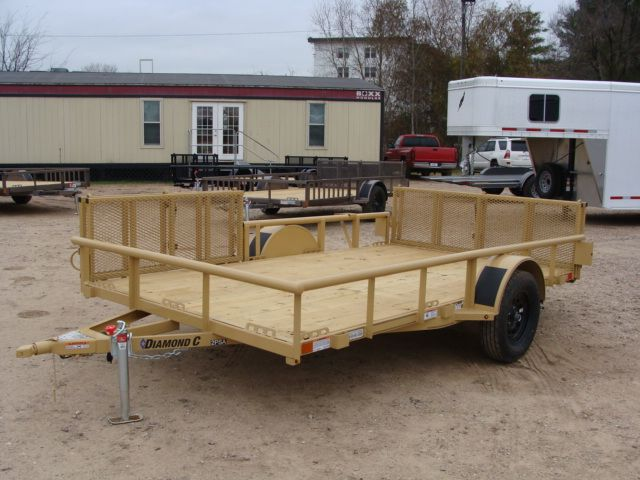 2018 Diamond C 2PSA - 12' ATV PKG All-Around Single Axle Utility Trailer CONROE, TX 7