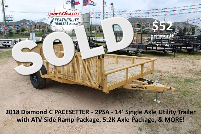 2018 Diamond C 2PSA - 14' ATV ATV PKG CONROE, TX
