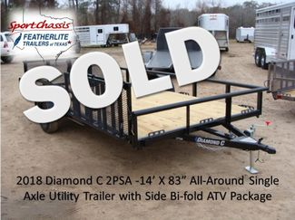 2018 Diamond C 2PSA - 14' ATV PKG All-Around Single Axle Utility Trailer CONROE, TX