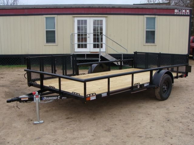 2018 Diamond C 2PSA - 14' ATV PKG All-Around Single Axle Utility Trailer CONROE, TX 6