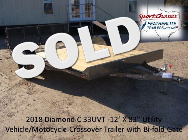 2018 Diamond C 33UVT - 12 Vehicle/Motorcycle Crossover Trailer CONROE, TX