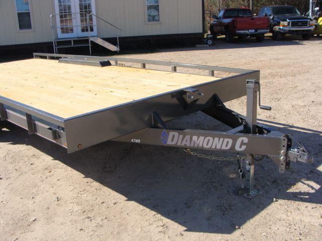 "2018 Diamond C 47MD 20' x 98"" - Mid-Deck Tandem Utility Trailer CONROE, TX 2"