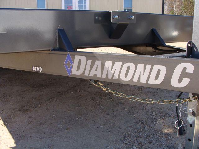 "2018 Diamond C 47MD 20' x 98"" - Mid-Deck Tandem Utility Trailer CONROE, TX 5"