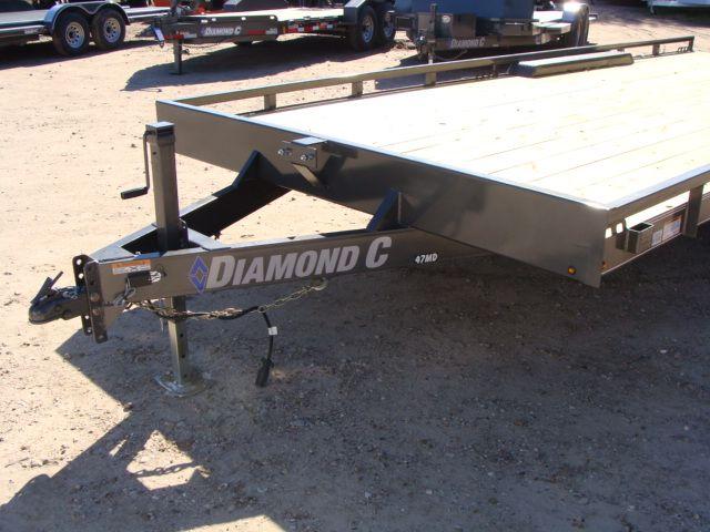 "2018 Diamond C 47MD 20' x 98"" - Mid-Deck Tandem Utility Trailer CONROE, TX 8"