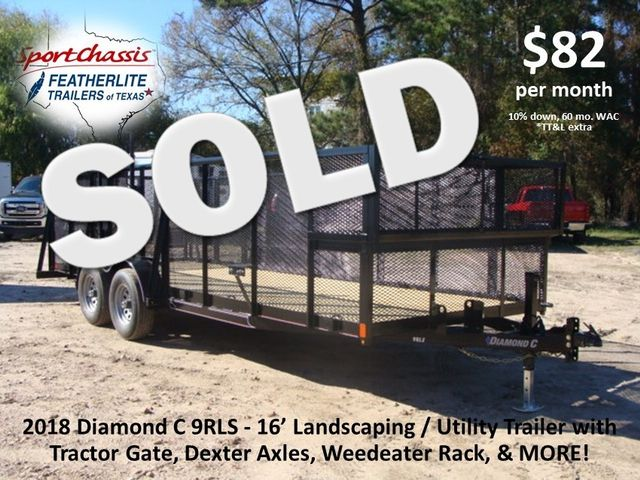 2018 Diamond C 9RLS - 16 16' BP Landscaping Trailer w/ Pipe Top Rail CONROE, TX
