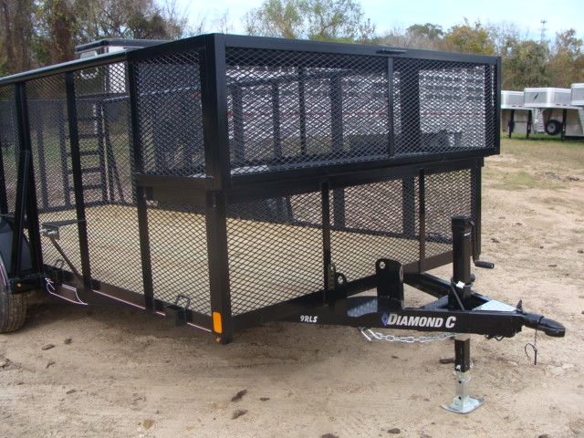 2018 Diamond C 9RLS - 16 16' BP Landscaping Trailer w/ Pipe Top Rail CONROE, TX 2