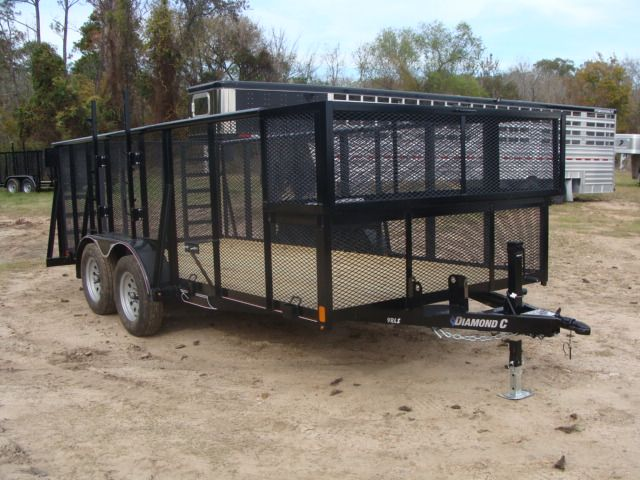 2018 Diamond C 9RLS - 16 16' BP Landscaping Trailer w/ Pipe Top Rail CONROE, TX 21