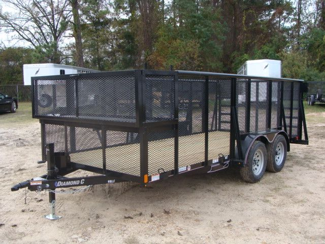 2018 Diamond C 9RLS - 16 16' BP Landscaping Trailer w/ Pipe Top Rail CONROE, TX 7