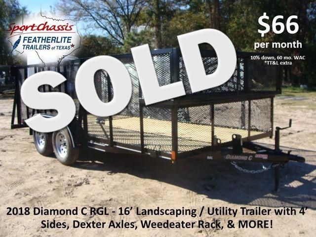 2018 Diamond C Ranger RGL - 16 16' Landscaping Trailer CONROE, TX 0