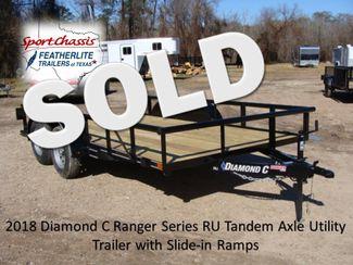 2018 Diamond C RU - 14' Ranger Tandem Axle CONROE, TX