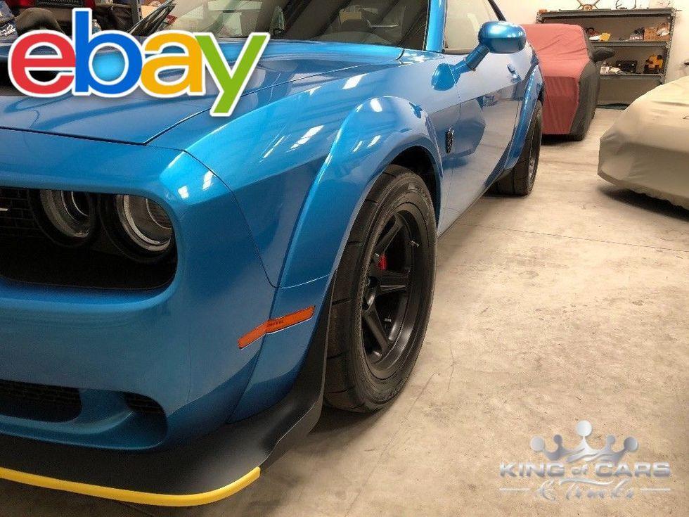 2018 Dodge Challenger Srt DEMON 840HP B5 BLUE 8 MILES FREE