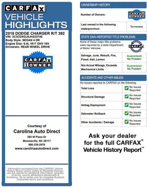 2018 Dodge Charger R/T Scat Pack - 6.4L 485 HP SRT HEMI V8 - LEATHER! Mooresville , NC 3