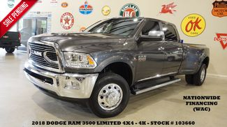2018 Dodge RAM 3500 DRW Limited 4X4 NAV,BACK-UP,HTD/COOL LTH,4K in Carrollton TX, 75006