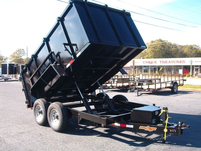 2019 Dump Trailer Down To Earth Dump 7x12 7 Ton 4ft Sides