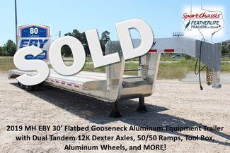 2018 Eby 35' GN EQUIPMENT Flatbed Equipment Trailer 25K GVWR 12Ks 6,800 lbs. CONROE, TX