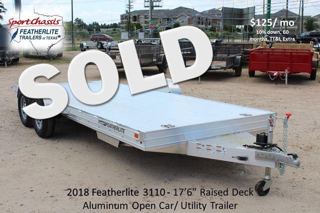 2018 Featherlite 3110 - 17'6 17'6 Open Car Trailer CONROE, TX