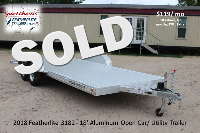 2018 Featherlite 3182 18' OPEN CAR TRAILER CONROE, TX 0