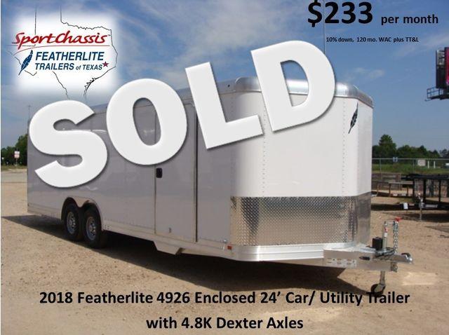 2018 Featherlite 4926 - 24' Enclosed Car / Utility Trailer CONROE, TX 0