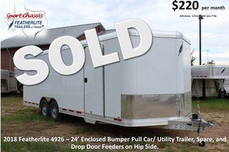2018 Featherlite 4926 - 24 24' Enclosed Car/ Utility CONROE, TX
