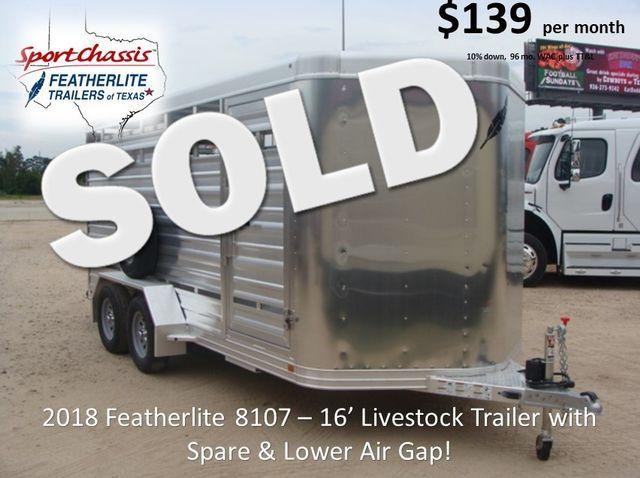 2018 Featherlite 8107 - 16 16' Livestock CONROE, TX 0