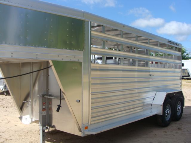 2018 Featherlite 8117 - 16 Livestock 16' Stock/ Cattle CONROE, TX 9