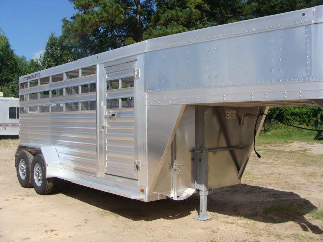 2018 Featherlite 8117 - 16 Livestock 16' Stock/ Cattle CONROE, TX 1