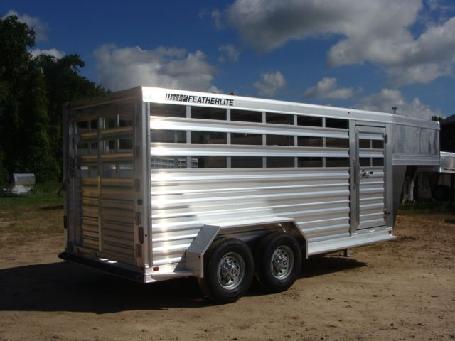 2018 Featherlite 8117 - 16 Livestock 16' Stock/ Cattle CONROE, TX 30