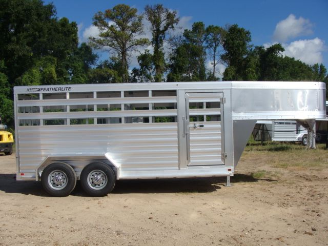 2018 Featherlite 8117 - 16 Livestock 16' Stock/ Cattle CONROE, TX 31