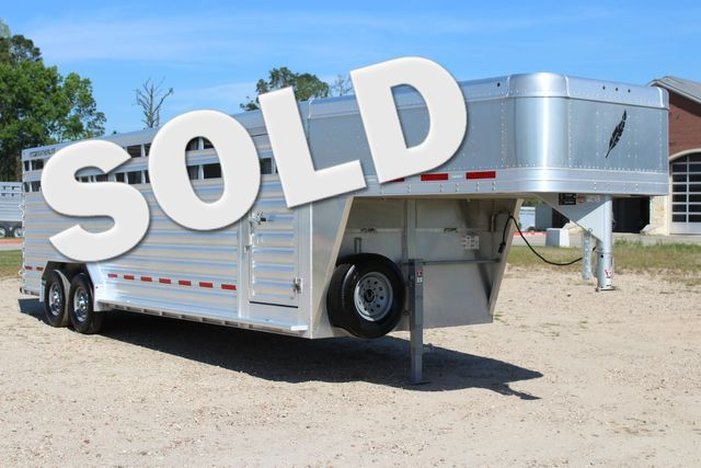"2018 Featherlite 8127 24' - GN LIVESTOCK TRAILER 7'6"" WIDE - GN VENT CONROE, TX 0"