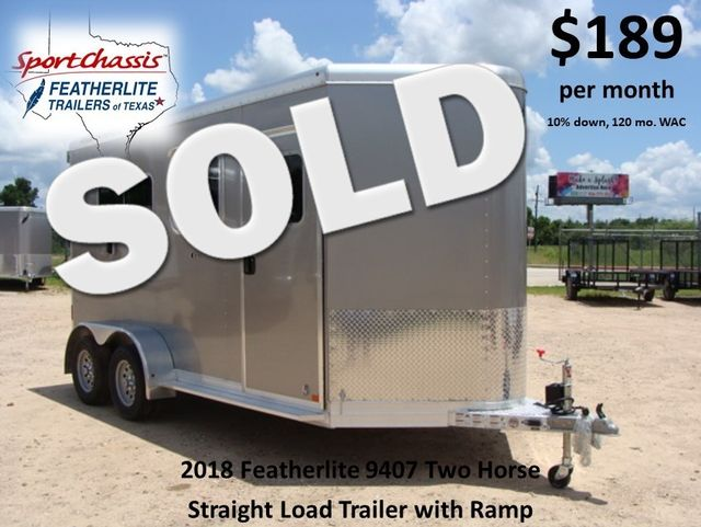 2018 Featherlite 9407 - 2H STRAIGHT 2H STRAIGHT LOAD CONROE, TX