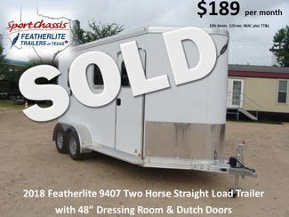 2018 Featherlite 9407 Two Horse Straight 2H Straight Load CONROE, TX