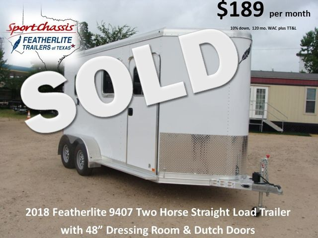 2018 Featherlite 9407 Two Horse Straight 2H Straight Load CONROE, TX 0