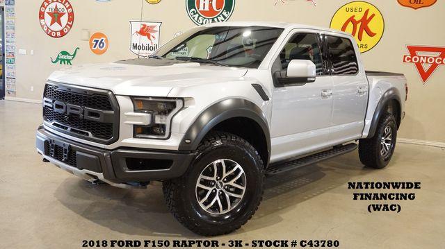 2018 Ford F-150 Raptor 4X4 NAV,360 CAM,HTD/COOL LTH,3K,WE FINANCE in Carrollton TX, 75006