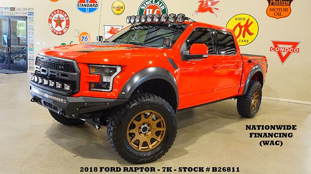 2018 Ford F-150 Raptor 4X4 LIFTED,BUMPERS,LED'S,SUBWOOFERS,20'S,7K
