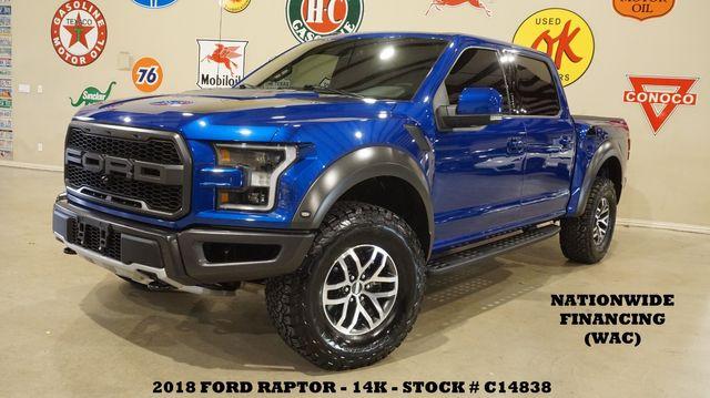 2018 Ford F-150 Raptor 4X4 PANO ROOF,NAV,360 CAM,HTD/COOL LTH,14K