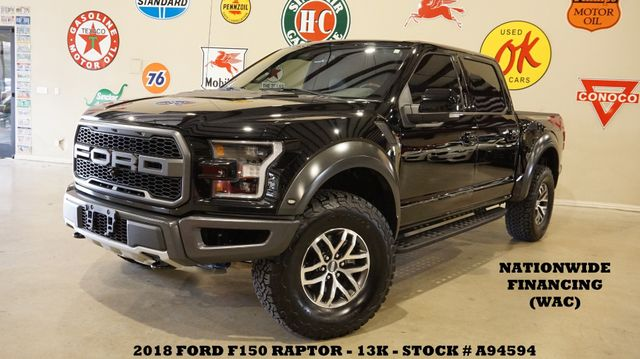 2018 Ford F-150 Raptor 4X4 PANO ROOF,NAV,360 CAM,HTD/COOL LTH,13K