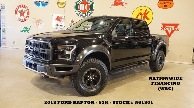 2018 Ford F-150 Raptor 4X4 PANO ROOF,NAV,360 CAM,HTD/COOL LTH,62K