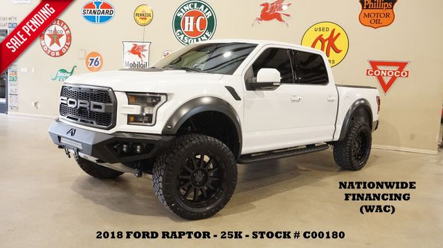 2018 Ford F-150 Raptor 4X4 LIFTED,BUMPERS,ROOF,360 CAM,22'S,25K