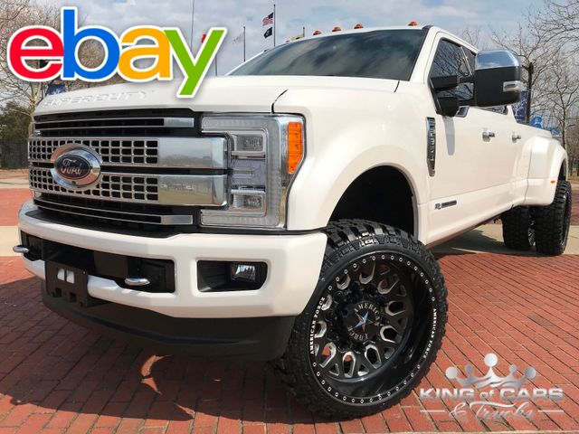 2018 Ford F350 Drw Dually Crew PLATINUM 6.7L DIESEL 8K MILES LIFTED AMERICAN FORCE