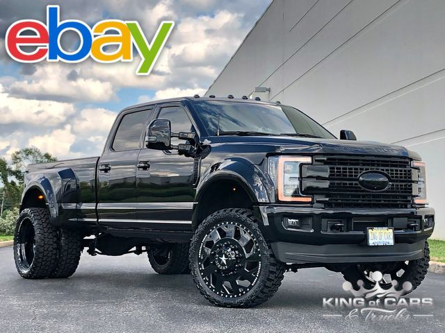 2018 Ford F450 Platinum 6.7l DIESEL 4X4 CREW DRW ONLY 15K MILE MURDERED OUT STUNNING