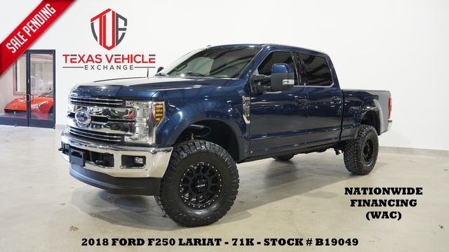 2018 Ford F-250 LARIAT 4X4 DIESEL,LIFTED,ROOF,360 CAM,BLK WHLS,71K