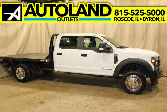 2018 Ford Super Duty F-550 Diesel 4x4 Crew Cab flat bed XL