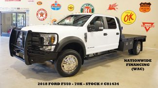 2018 Ford F-550 DRW Chassis Cab XL 4X4 DIESEL,FLATBED,70K,WE FINANCE in Carrollton, TX 75006