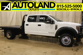 2018 Ford Super Duty F-550 diesel flat bed 4x4 XL in Roscoe, IL 61073